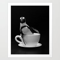 Penguin Tea Party Art Print