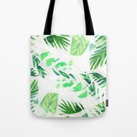 Leaf tropical pattern  Tote Bag