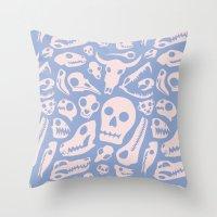 Soft Skulls Throw Pillow