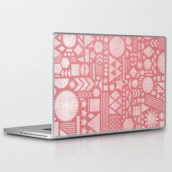 Modern Elements with Bubble Gum. Laptop & iPad Skin