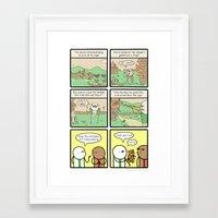 Antics #264 - that just happened Framed Art Print