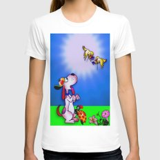 Sunny Day Womens Fitted Tee White SMALL