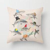 Hats On Throw Pillow