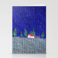 Night scenes Stationery Cards