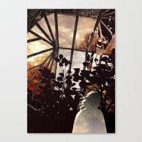 Glass house Canvas Print