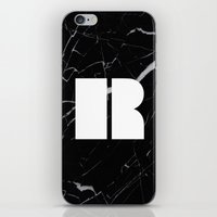 Black Marble - Alphabet R iPhone & iPod Skin