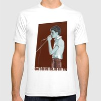 Fad Gadget Mens Fitted Tee White SMALL