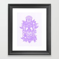 Purple Henna Framed Art Print