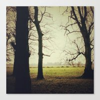Canvas Print featuring Dancing trees by Love_in_her_eye