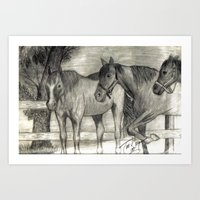 On The Ranch Art Print