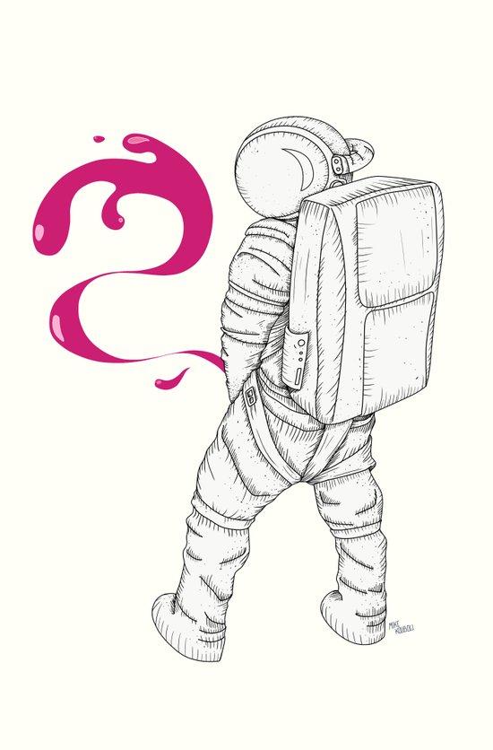 P{ee}ink in Space Art Print