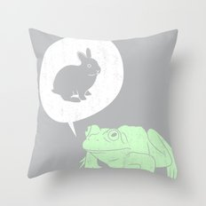 Frogs Say Throw Pillow