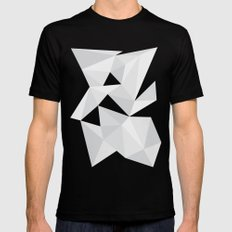 White Deconstruction SMALL Black Mens Fitted Tee