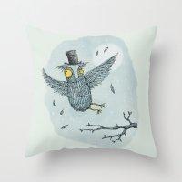 'Mr Owl' Throw Pillow