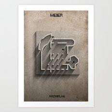 021_ Archiplan_richard meier Art Print