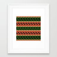 Holiday Pattern 3 Framed Art Print