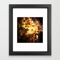 Triangle Design Chocolate Framed Art Print