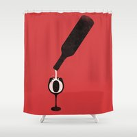 Wine-O (Red) Shower Curtain