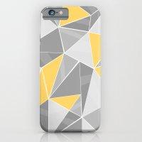 Pattern, grey - yellow iPhone 6 Slim Case