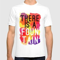 There Is A Fountain Mens Fitted Tee White SMALL