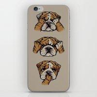 Noevil English Bulldog iPhone & iPod Skin