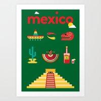 Mexico Poster Art Print