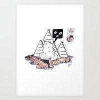 Collage Bear Art Print