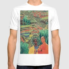 Green Lands Mens Fitted Tee SMALL White