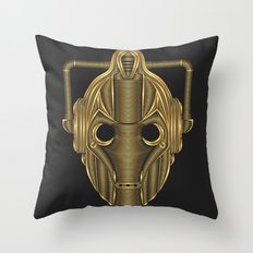 Doctor Who Cyberman Throw Pillow
