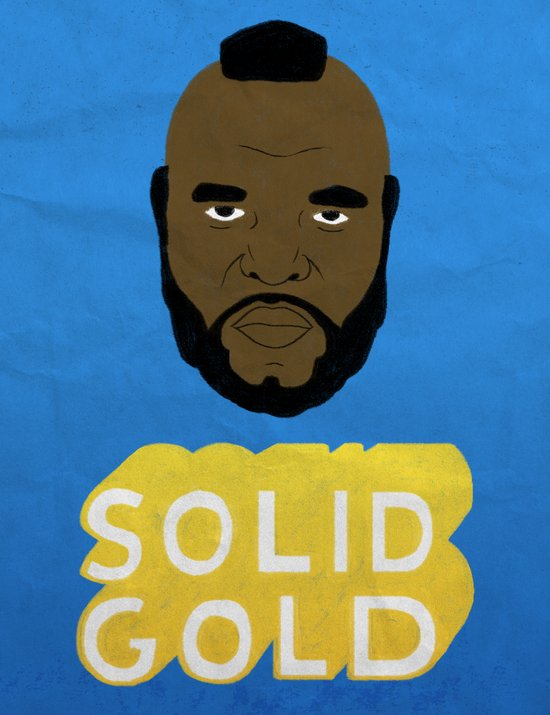 Solid Gold Art Print