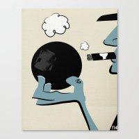 Bowling And Cigars At Th… Canvas Print
