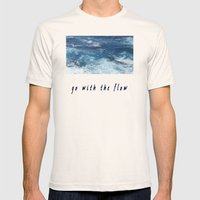 Oahu: Go With The Flow Mens Fitted Tee Natural SMALL