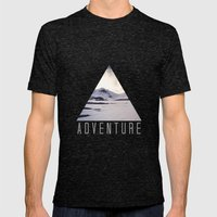 Mountain Adventure Mens Fitted Tee Tri-Black SMALL