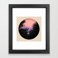 Clouds As Mountains Circ… Framed Art Print