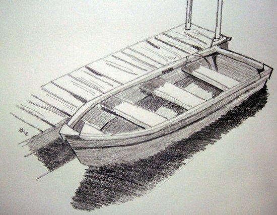 Boat - Drawing Art Print
