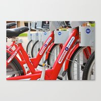 Madison Bicycles Canvas Print