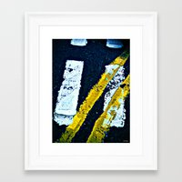 Road Markings Framed Art Print