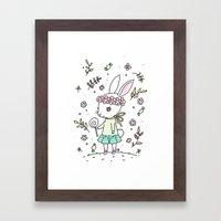 Summer Bunny Framed Art Print