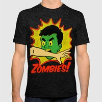 Zombies! Mens Fitted Tee Tri-Black SMALL