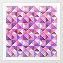 Purple/Pink : Pattern Art Print