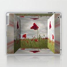 Mirrored Poppies Laptop & iPad Skin
