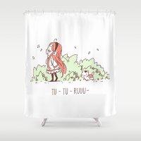 Tu Tu Ruuu Shower Curtain