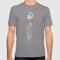 Moon Balloon 02 Mens Fitted Tee Tri-Grey SMALL