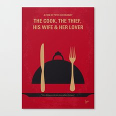No487 My The Cook the Thief His Wife and Her Lover minimal movie poster Canvas Print