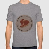 Steak...Nom Nom Nom! Mens Fitted Tee Athletic Grey SMALL