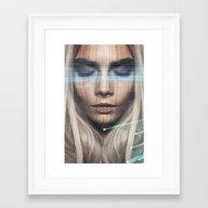 Wood Face Framed Art Print