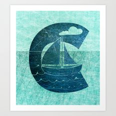 Sail Across the Sea Art Print