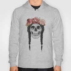 Skull with floral crown Hoody