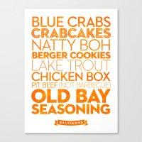 Baltimore — Delicious … Canvas Print