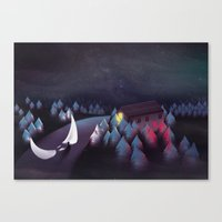 Gravity (Moon In The Riv… Canvas Print